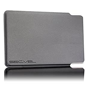 SECVEL card protection sleeve 'Classic' – Protection against RFID/NFC & magnetic fields - Gray