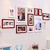 Yxhflo Massivholz American Photo Frame Wand Kombination aus Wand - Continental Wohnzimmer Wand kreative Kombination von Frame SM 642 bilderrahmen,Weiß Cherry Mix B
