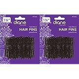 "2 Pack : Diane 1.75"" Hair Pins, Black, 100/Card Selection (2 Pack)"