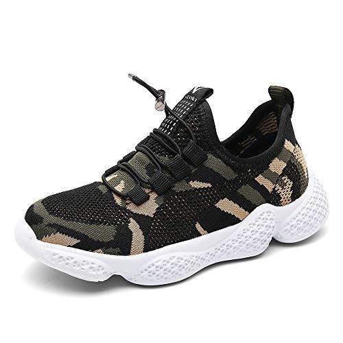 Zapatos Deportivos Infantil Zapatillas Running Niño Sneakers Gimnasia Al Aire Muchachas Calzado Atletismo Ligero Respirable Niña Unisex Camuflaje 30