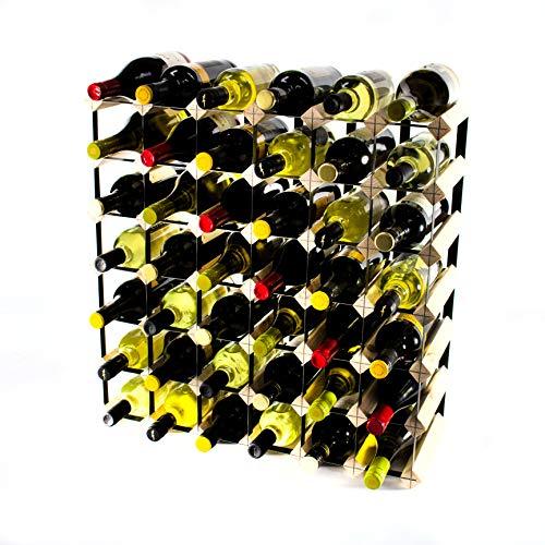 Cranville wine racks Klassische 42Flasche Kiefernholz und schwarzem Metall Weinregal fertig montiert - Modular Wine Rack