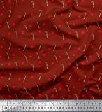 Soimoi Rot Poly Georgette Stoff Kekse & Süßigkeiten Stick