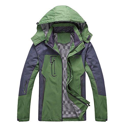 Diamond Candy Herren Sportbekleidung Kapuze Windbreaker im Freien wasserdichte atmungsaktive Jacke (Wasserdicht Atmungsaktiv Jacke)