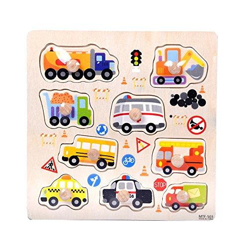 Vovotrade® 9 Piece Animaux en Bois Puzzle Puzzle Apprentissage Précoce Bébé Enfants Jouets Éducatifs Wooden Animal Puzzle Jigsaw Early Learning Baby Kids Educational Toys (B)