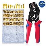 Crimpzange Set Crimping Tool Mit 600 Stück Kabelstecker 0,5-2,5mm² HOMCA Crimpwerkzeuge Set Ferrule Crimper Crimpzange Flachsteckhülsen Set,Crimpzangen Aderendhülsen Set Für 2.8/4.8/6.3mm Crimpklemme