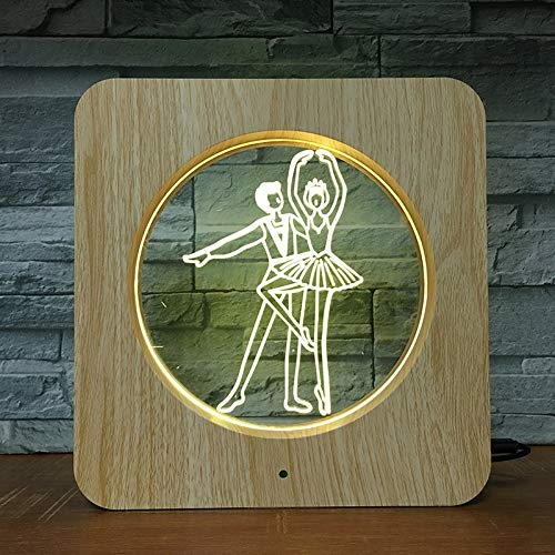 Cornice per foto di danza classica, lampada da tavolo in plastica, lampada da tavolo, lampada da tavolo per bambini, decorazione per la casa, regalo per bamb