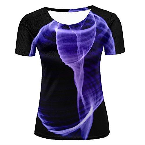 Donne tshirts fashion 3d print graphic purple xray shell unisex tees xl