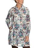 Henry Cottons Damen Bluse Regular Fit, geblümt 110135726100/Hemdbluse, Gr. 40 (IT 46), Mehrfarbig (rot 490 blumenprint)