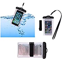DFV mobile - Armband Universal Protective Beach Case 30M Underwater Waterproof Bag for => MOTOROLA DROID ULTRA (OBAKE) (2013) > Silver