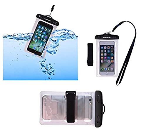 DFV mobile - Armband Universal Protective Beach Case 30M Underwater Waterproof Bag for => ONKYO GRANBEAT DP-CMX1 (2017) > Silver