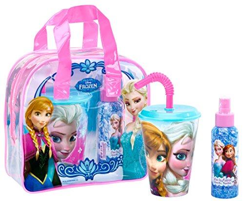 Air Val Disney Frozen Die Eiskönigin Geschenk-Set, 1er Pack (Eau de Toilette 100 ml, Trinkbecher mit Strohhalm)