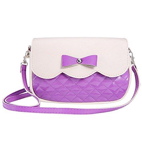 Tonsee Bowknot Fashion Crossbody Tasche Pochette Mode Damen Schultertaschen Geschenk Lila