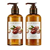 Nature Republic Argan Essential Deep Care SHAMPOO & CONDITIONER VALUE SET for Damaged Hair