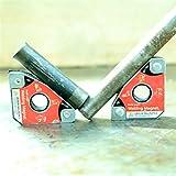 2 piezas Soporte de imanes de soldadura Herramientas de soldadura de ángulo múltiple 30 ° 60 ° 45 ° 90 ° de Soldador para Montaje, Soldadura y Tubo In