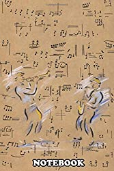 """Notebook: Lost In The Music Is Drawn In Pen With Pastel Colour Hi , Journal for Writing, College Ruled Size 6"""" x 9"""", 110 Pages"""