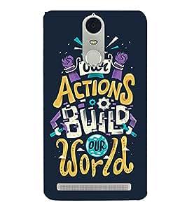 ACTIONS BUILD OUR WORLD Designer Back Case Cover for Lenovo K5 Note