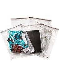 Noaks Bags 60.01.041 - Pack de 5 bolsas secas con cierre zip (100% impermeables y herméticas), transparente, tamaño XL