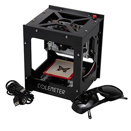 Preisvergleich Produktbild COLEMETER Graviermaschine Lasergravurmaschine 1000mw USB Laser Engraver Printer Laser Cutting Engraving Machine COLEMETER DK-8 pro-5