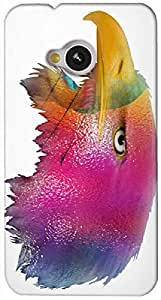 Timpax protective Armor Hard Bumper Back Case Cover. Multicolor printed on 3 Dimensional case with latest & finest graphic design art. Compatible with HTC M7 Design No : TDZ-28089