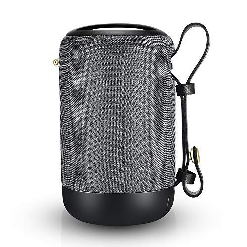 Bluetooth Lautsprecher, 20W Tragbarer Bluetooth Lautsprecher V5.0 mit Dual Treiber, Extra Bass, Einfach Tragbar, 12h Spielzeit, IPX56 Wasserfest mit Eingebauten Mikrofon, 360° TWS Stereo Sound