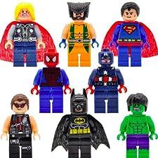 """8 Stück Set Passt LEGO Offizielle 1-2-3 blocs Ware 1-2-3 Blocks nur lizenzierter Lieferant Großes Spaß Geschenk  Charaktere sind ABS Plastik und ausgeliefert.  Montierte Charaktere stehen bei ca. 1. 75 """"groß.""""  Der LEGO  Brand Protection möchte Sie w..."""