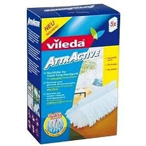 Vileda - 01893-20-26-128- Pack de 5 Recharges pour Plumeau Attractive - Lot de 2