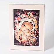 Cuadro Virgen frutos 30x40cm. Ilustración de Juan Ferrándiz impresa en lienzo. Serie limitada y numerada. Rega