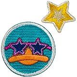 Minoda Phineas y Ferb cara emblema pequena Hierro y sellar anfibio de color amarillo - pequena D01Y5959