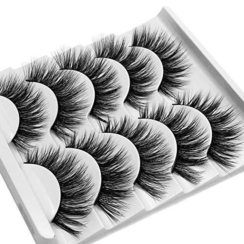 SMILEQ® 3D Wimpern Imitat Nerz Natürliche Dicke Falsche Wimpern 5 Paar (5 Paare, G)