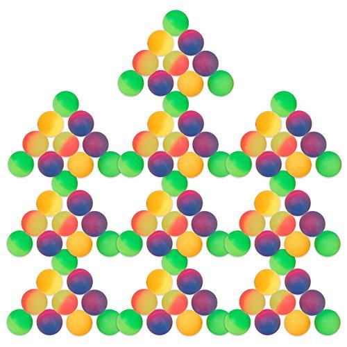 Schramm® 100 Stück Flummis Frost 27mm Flummi Springball Hüpfball Mitgebsel Tombola Kindergeburtstag 100er Pack