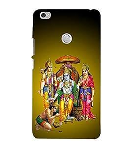 PrintVisa Shri Ram Darbar 3D Hard Polycarbonate Designer Back Case Cover for Xiaomi Mi Max