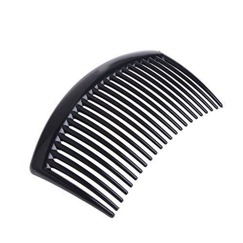 Jiamins Mode 5 Teile/Set Handmade 23 Zahn Haarkämme Damen DIY Kunststoff Clip Haarschmuck (Schwarz)