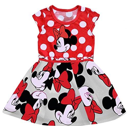 ls'Schönes Kleid Kleid/Tutu, Prinzessinnen, Rot, 98 (Mickey Mouse Tutu Kostüm)