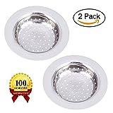 2PCS lavello in acciaio INOX filtro per lavello da cucina Zmoon drenare colini 10,9cm diametro Fit per quasi tutti i lavelli