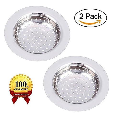 2Edelstahl Spüle Küche Spüle Sieb zmoon Abläufe Waschbeckensiebe 4.3Durchmesser Passform für fast alle (T-post Clips)