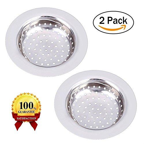 2Edelstahl Spüle Küche Spüle Sieb zmoon Abläufe Waschbeckensiebe 4.3Durchmesser Passform für fast alle Küchenspülen (Ersatzteile Baby-badewanne)