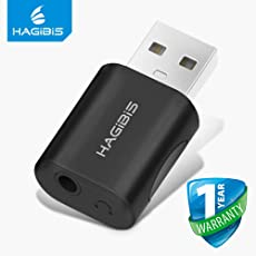 Hagibis 2in1 USB External Sound Card Converter USB to Jack 3.5mm Headphone Audio Adapter Mic Sound Card for PC Laptop Audio Adapter