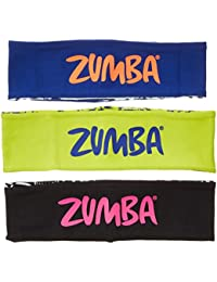 Zumba Fitness City Swag Reversible Head Bands 3pk Headwear, Multi, Taille unique
