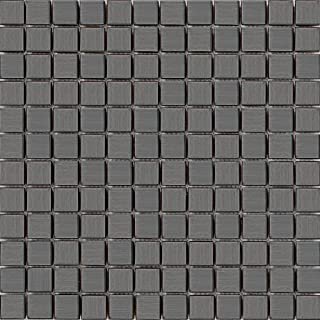 Grand Taps 30cm x 30cm Brushed Black Stainless Steel Mosaic Tiles Sheet (MT0038)