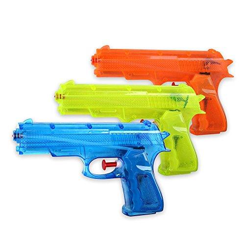 S/o® 12unidades Pistola de agua clásico aprox. 17cm Agua pistolas Pistola de agua Water Gun Watergun Agua Rifle Agua comprimido