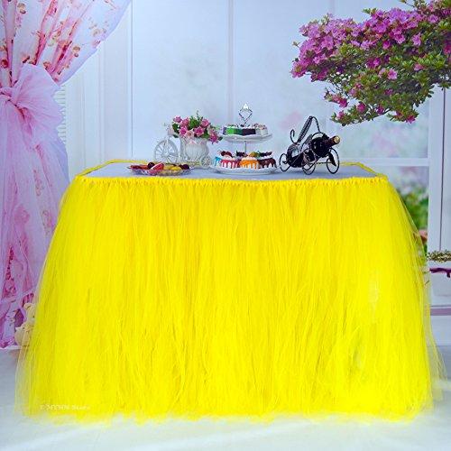 Tischröcke, romantische Tischdeko mit Tüll, Tischdekoration, Schneeflocke Wonderland Tischdecke,...