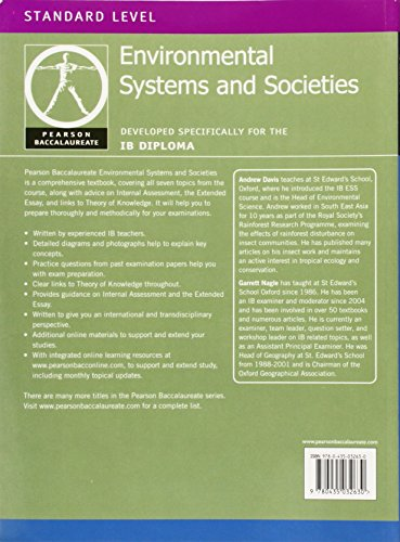 Pearson Baccalaureate: Environmental Systems and Societies for the IB Diploma (Pearson International Baccalaureate Diploma: International Editions)