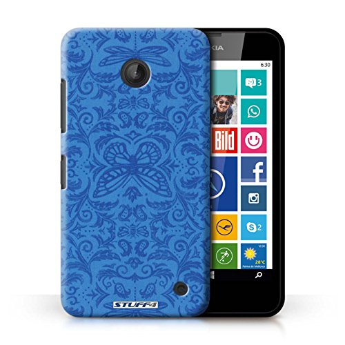 Kobalt® Imprimé Etui / Coque pour Nokia Lumia 635 / Vert conception / Série Motif médaillon Bleu