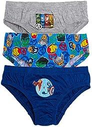 Marvel Paquete múltiple de calzoncillos para niños Vengadores para niños, superhéroes, ropa interior (paquete