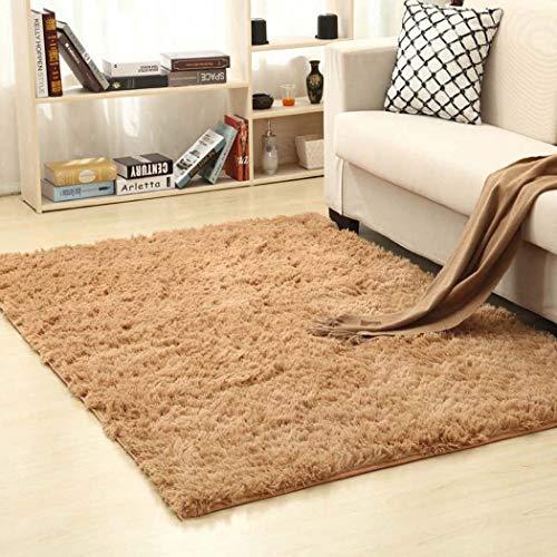 DSHBB Teppich, Weiche Schattige Fläche Teppiche, Shaggy Teppich, Gemütliche Flauschig Für Schlafzimmer Wohnzimmer -