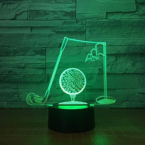 Golf Clubs 3D Visuelle Tischlampe Acryl NightLight LED Illusion Lampe Illusion Lampe Lichtwechsel Fi