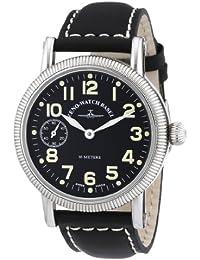 Zeno Watch Basel Nostalgia 98078-9-a1 - Reloj de caballero manual, correa de piel color negro