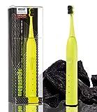 Megasmile Sonic Black Whitening II Schallzahnbürste Yellow, Elektrische Zahnbürste, mit Timer, Aktivkohle ACP Whitening Wirkung