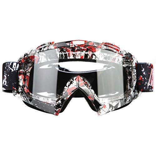 qiilu Schutzbrille von Augen Gesicht Nebelscheinwerfer, Sandschutz, Staubschutz Lünette für Aktivität Moto Cross Google MTB Fahrrad Snowboard Ski Snowboard Cyclismes - Homme Auge