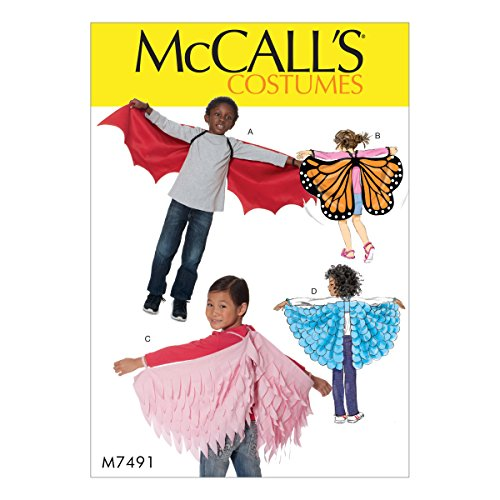 McCall 's Patterns Kinder Flügel, Mehrfarbig, Größen XS-L